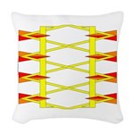 Triangle Glyph 04 H Woven Throw Pillow