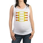 Triangle Glyph 04 H Maternity Tank Top