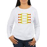 Triangle Glyph 04 H Women's Long Sleeve T-Shirt
