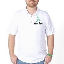 Personalized Light Green Ribbon Awarene T-Shirt