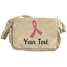 Personalized Pink Ribbon Awareness Messenger Bag