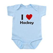 I Heart Hockey Body Suit