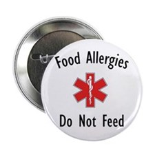 "Food Allergies 2.25"" Button (10 pack)"