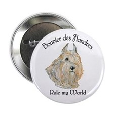 "Bouvier des Flandres Wheaten 2.25"" Button"