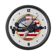 E-2C Hawkeye Large Wall Clock