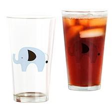 Blue Elephant Modern Drinking Glass