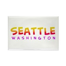 Seattle WA Rectangle Magnet