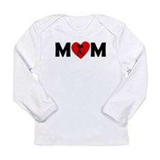 Weightlifting Heart Mom Long Sleeve T-Shirt