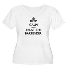 Keep Calm and Trust the Bartender Plus Size T-Shir