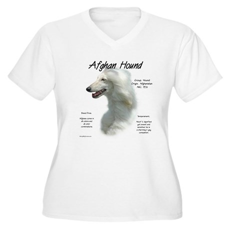 Afghan (white) Women's Plus Size V-Neck T-Shirt