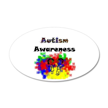 Autism 35x21 Oval Wall Decal