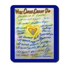 Blue & Gold Heart Cancer Mousepad