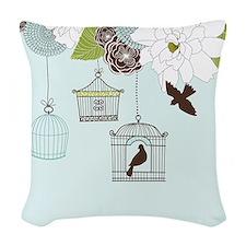 Modern Floral Design w Bird Cages n Love Birds Art