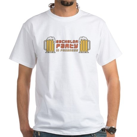 Bachelor Party White T-Shirt