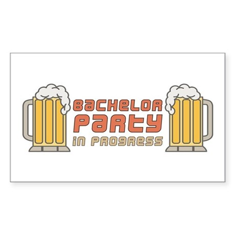 Bachelor Party Rectangle Sticker