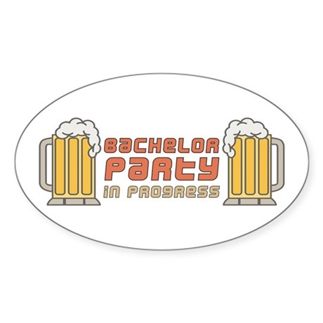Bachelor Party Oval Sticker