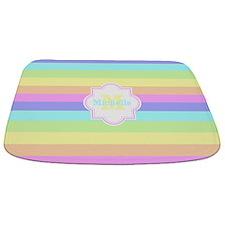 Monogram Pastel Stripes Bathmat