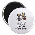 Cartoon Bride's Father Magnet