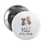 Cartoon Bride's Father Button