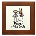 Cartoon Bride's Father Framed Tile