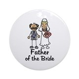 Cartoon Bride's Father Ornament (Round)
