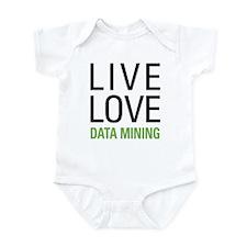 Live Love Data Mining Infant Bodysuit