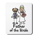 Cartoon Bride's Father Mousepad