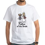 Cartoon Bride's Father White T-Shirt