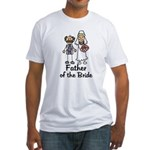 Cartoon Bride's Father Fitted T-Shirt