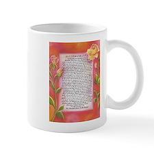desiderata poster on watercolor yellow roses Mugs