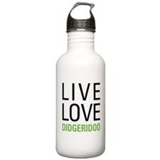 Live Love Didgeridoo Water Bottle