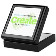 Create - Green Keepsake Box