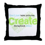 Create - Green Throw Pillow