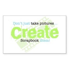 Create - Green Rectangle Decal