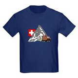 Alpine Hike Kids Navy Blue T-Shirt