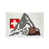 Alpine Hike Rectangle Magnet