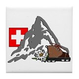 Alpine Hike Tile Coaster
