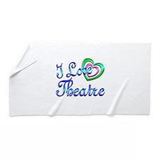 I Love Theatre Beach Towel
