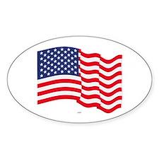 American Flag Waving Decal