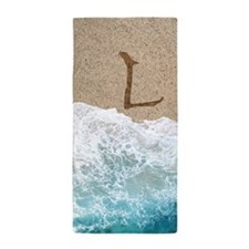 LETTERS IN SAND L Beach Towel