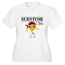 Head Neck Cancer Survivor Chick Plus Size T-Shirt