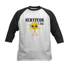 Childhood Cancer Survivor Chick Baseball Jersey