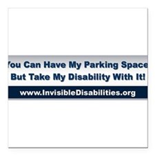 "Cute Multiple sclerosis support Square Car Magnet 3"" x 3"""