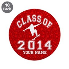 "Class Of 2014 Skateboard 3.5"" Button (10 pack)"