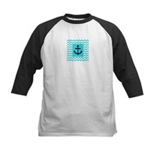 Anchor in Navy and Aqua Baseball Jersey