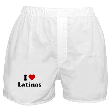 I Love [Heart] Latinas Boxer Shorts