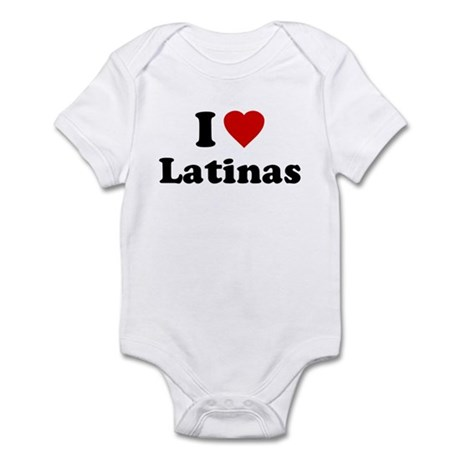 I Love [Heart] Latinas Infant Bodysuit