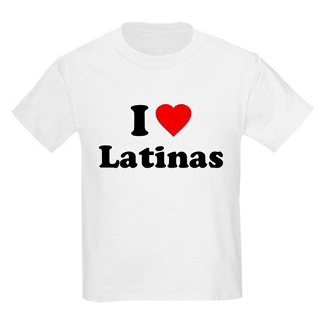 I Love [Heart] Latinas Kids Light T-Shirt