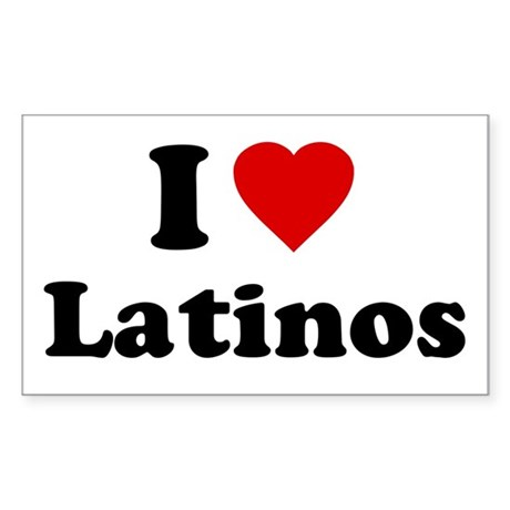 I Love [Heart] Latinos Rectangle Sticker