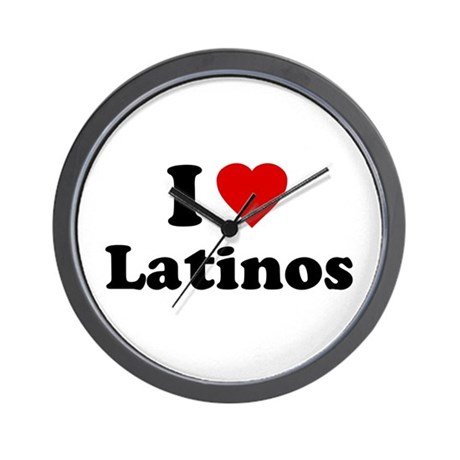 I Love [Heart] Latinos Wall Clock